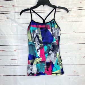 Lululemon Rare Multi Color Faces Powers Y Tank